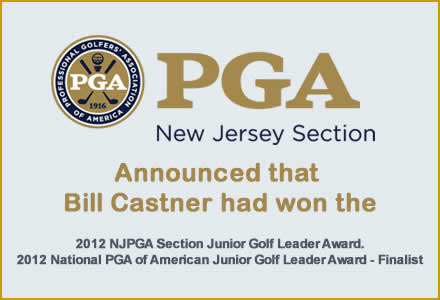 Bill Castner PGA Master Professional Awards