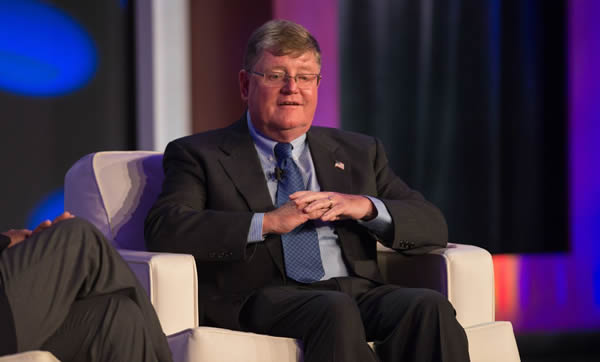 PGA Youth Player Development Award recipient Bill Castner speaks during the 2015 PGA of America National Awards at the 99th PGA Annual Meeting at PGA National Resort & Spa on November 11, 2015 in Palm Beach Gardens, FL. (Photo by Montana Pritchard/The PGA of America)