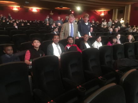 First Tee coaches Bill Castner & Joe Ubil attend the NYC premier of Tommy's Honour with students from the First Tee of Plainfield program
