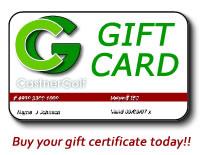 CastnerGolf Giff Certificate