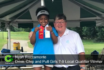 Nyah Roccamonte...Drive, Chip and Putt Girls 7-9 Local Qualifier Winner