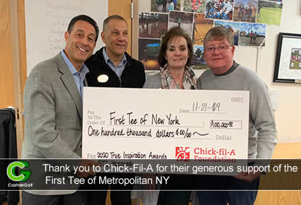 Thank you to Chick-Fil-A for their generous support of the First Tee of Metropolitan NY